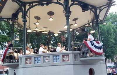 The Oskaloosa City Band plays on
