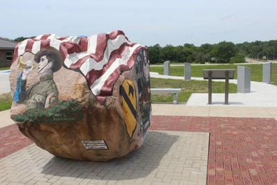 Freedom Rock display receives final touches