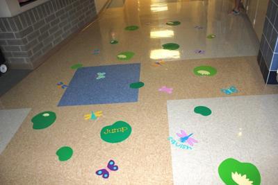 Sensory paths at Oskaloosa Elementary School