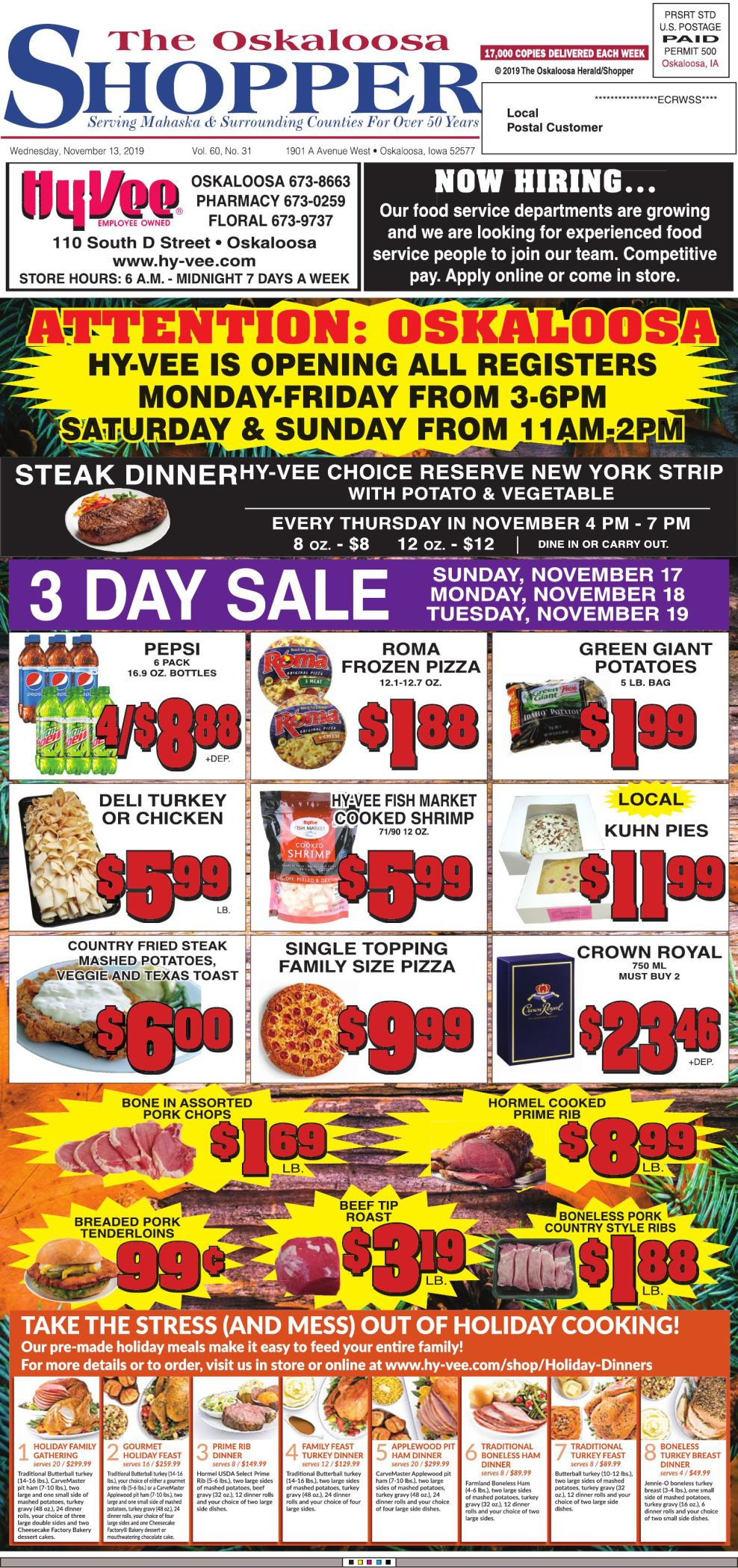 Oskaloosa Shopper week of 11/13/19