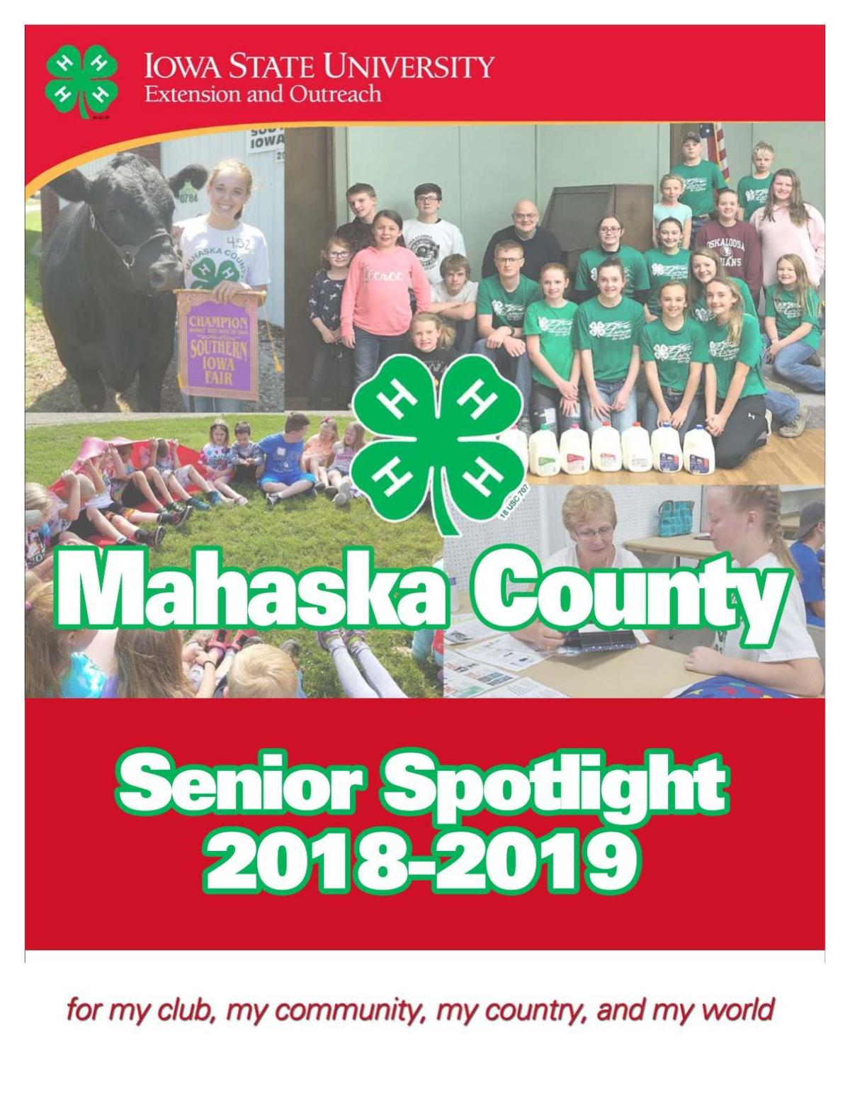 Mahaska County 4-H Senior Spotlight 2019