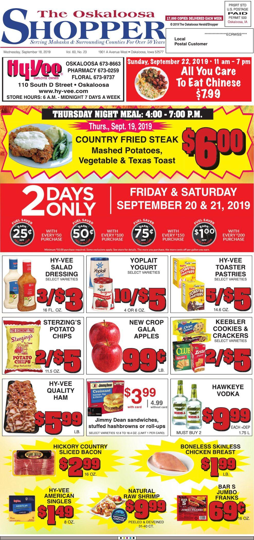 Oskaloosa Shopper week of 9/18/19