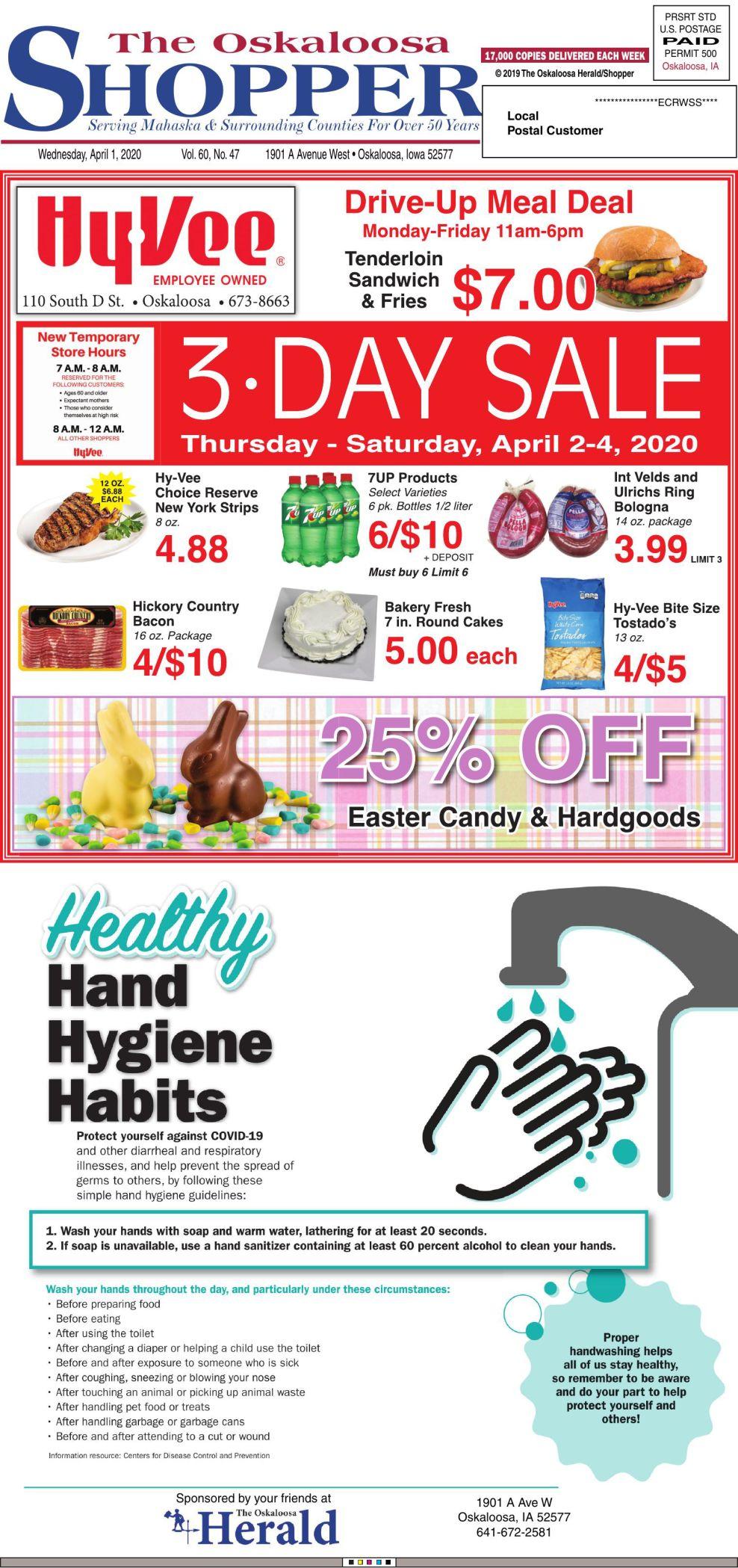 Oskaloosa Shopper week of 4/1/20