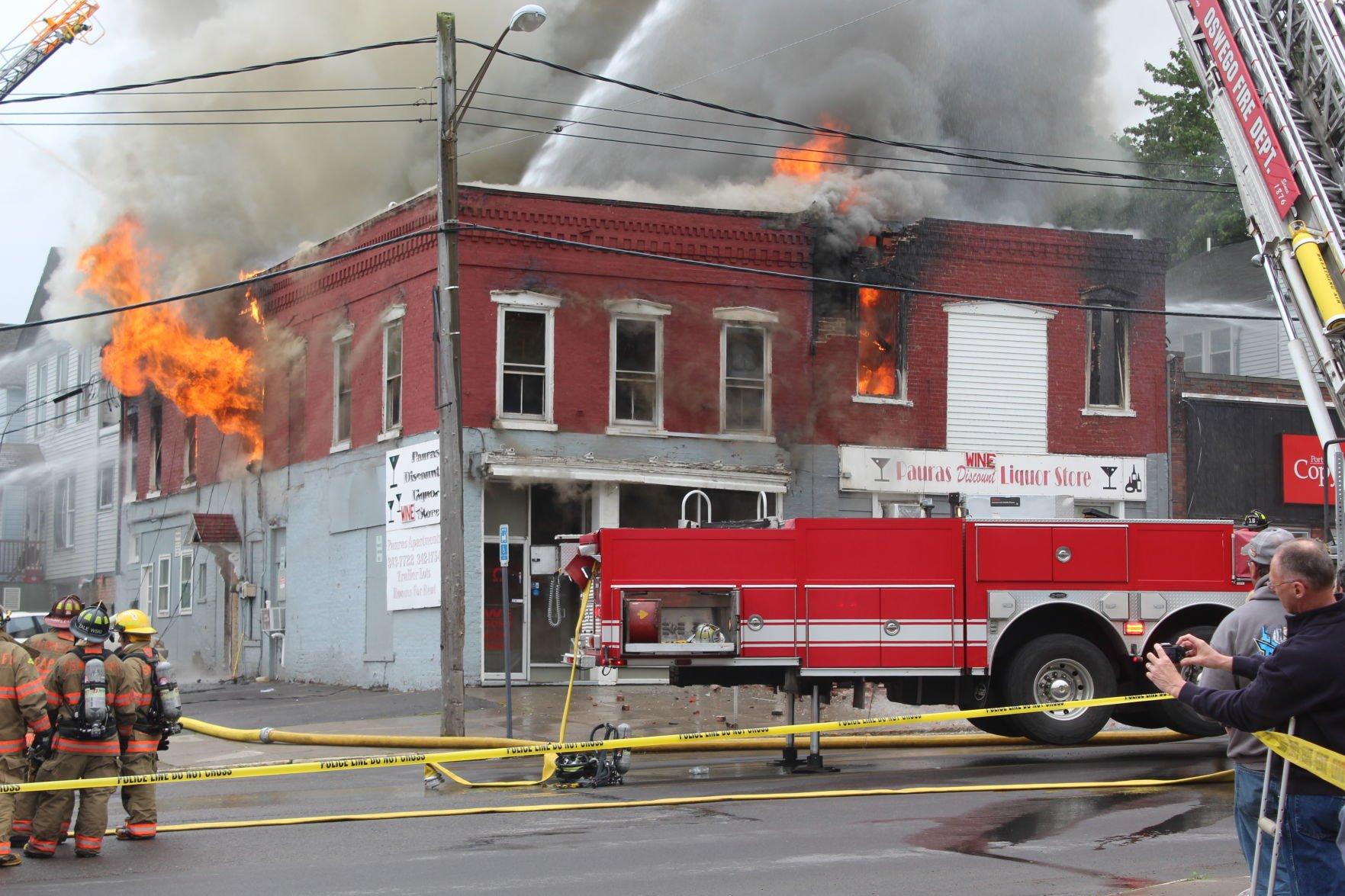 Fire destroys downtown Oswego building Looking back