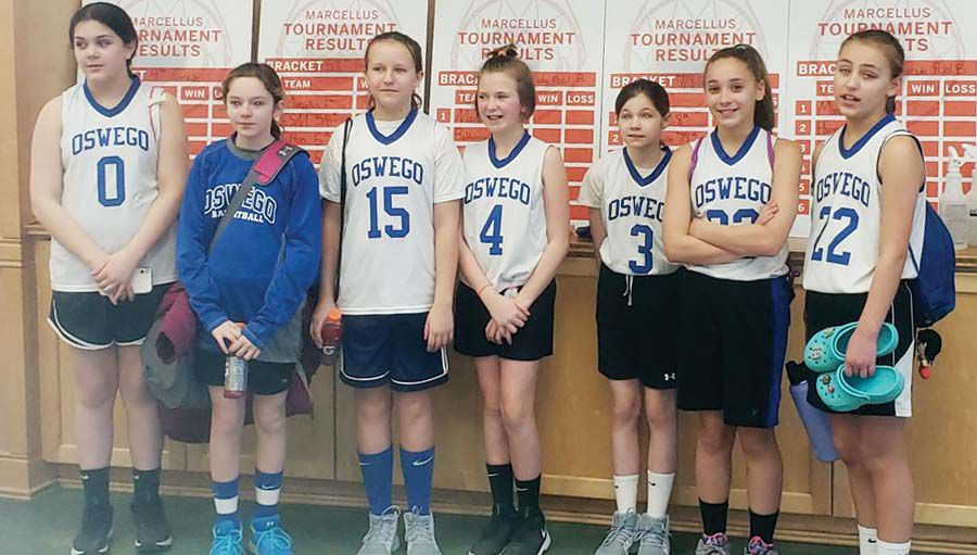 Oswego grades 5-6 girls travel basketball team competes in Marcellus Tournament