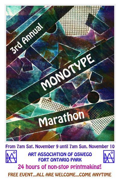 3rd Annual Monotype Printing Marathon