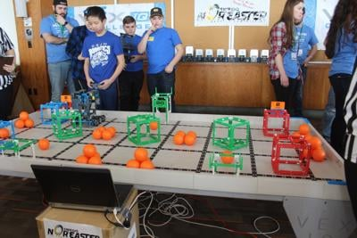 Students show off robotics skills in Nor'easter VEX tournament