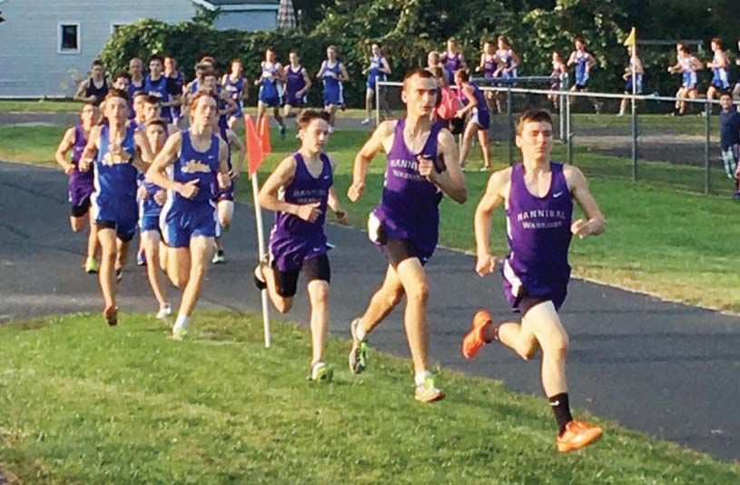 Hannibal boys cross country team races past Cazenovia