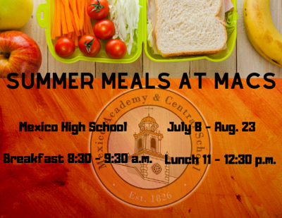Free breakfast, lunch available at Mexico High School for children