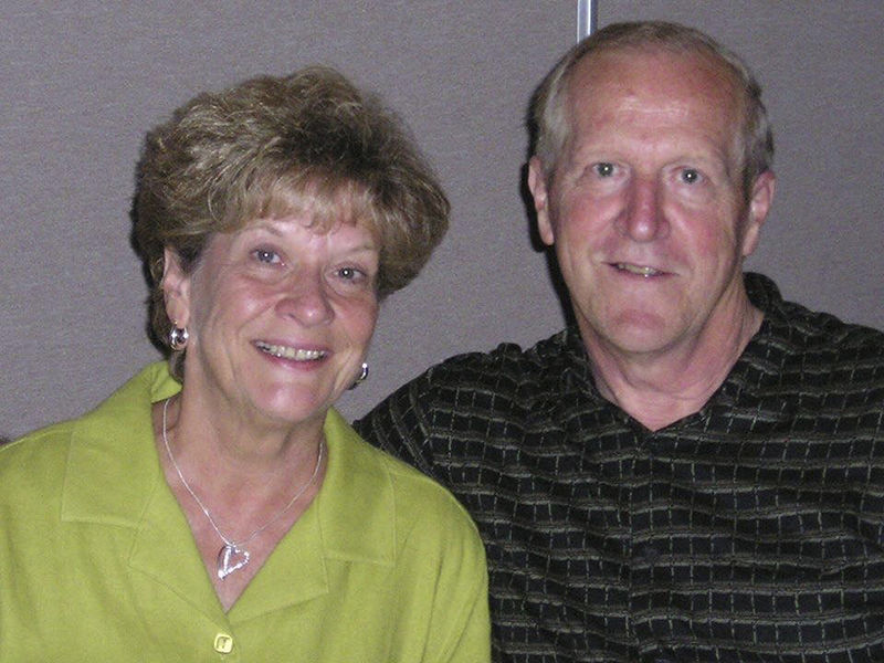 Jeanne and Orville Byrne Forks in the