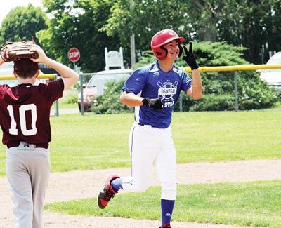 Guynn celebrates a home run