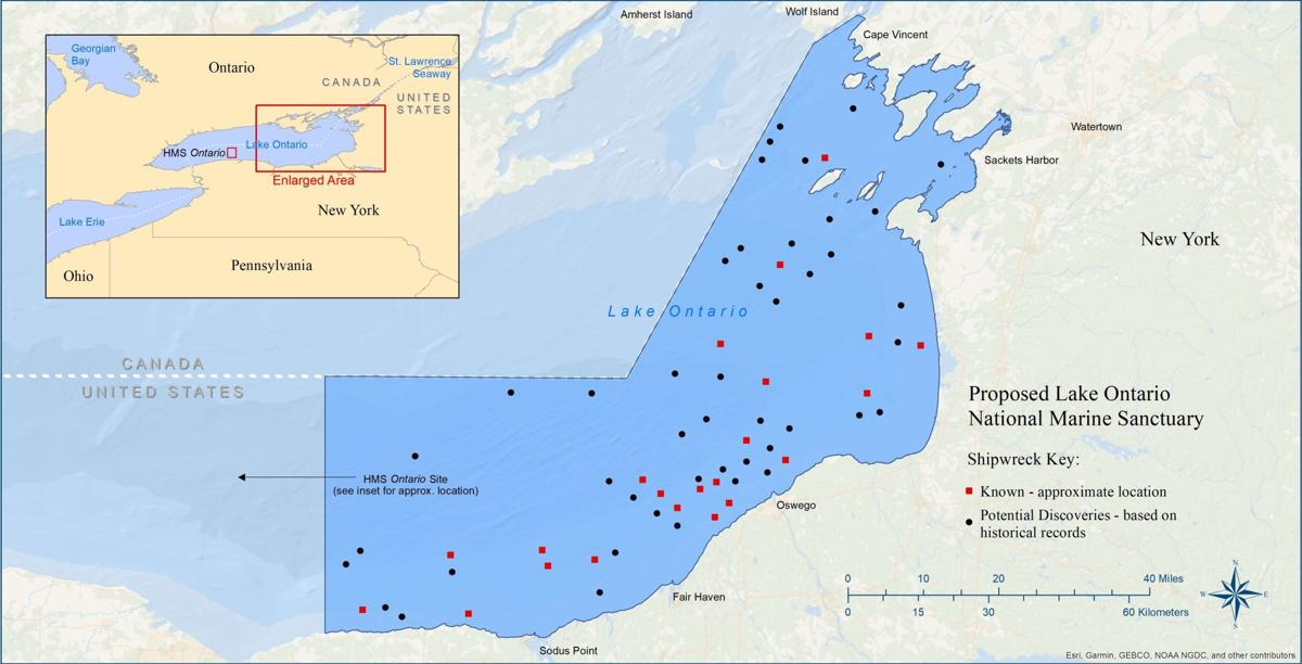 Lake Ontario Marine Sanctuary Map