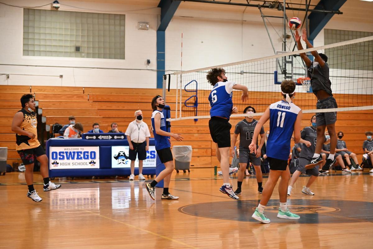 Oswego Boys Varsity Volleyball vs. Syracuse City - 1