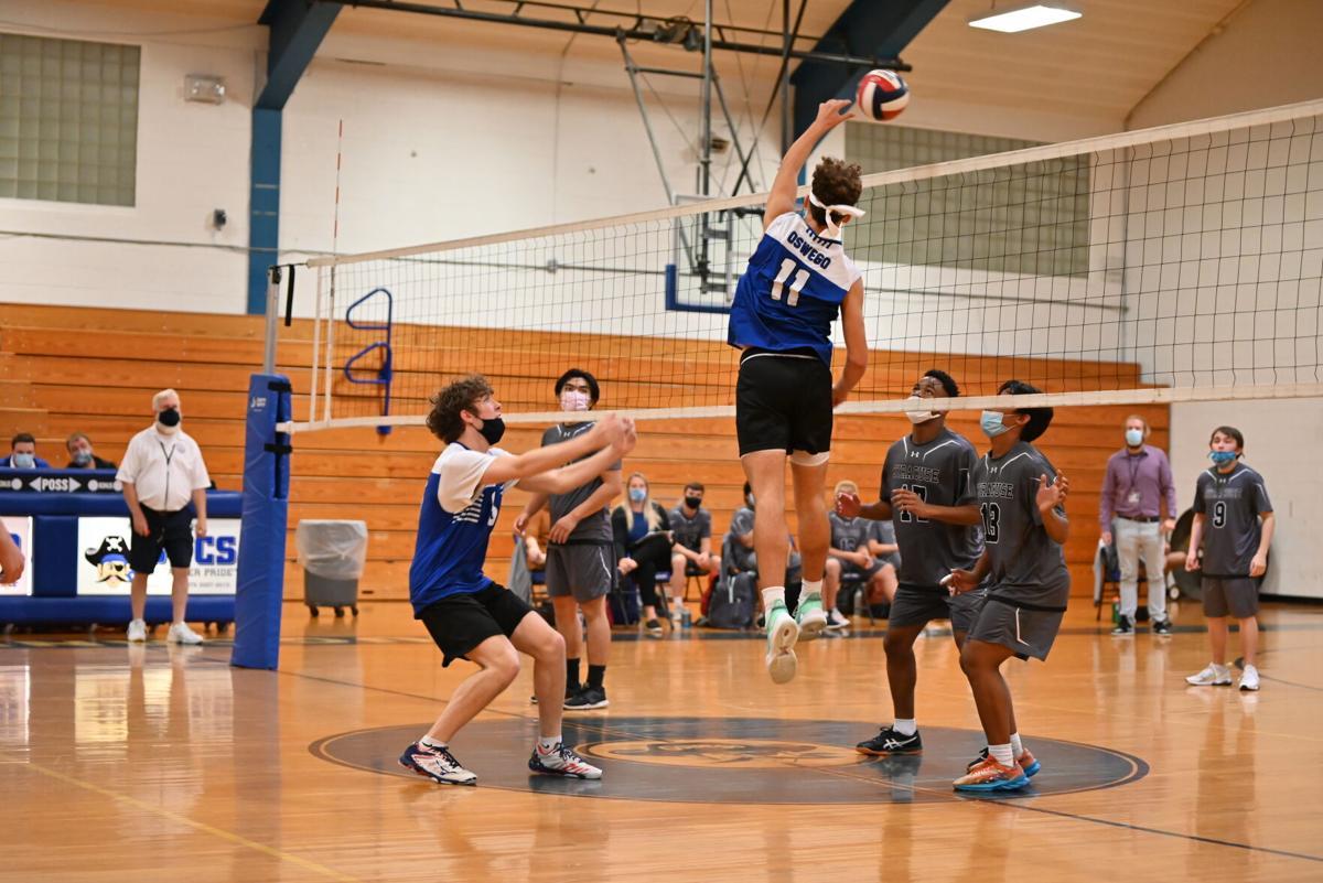 Oswego Boys Varsity Volleyball vs. Syracuse City - 2