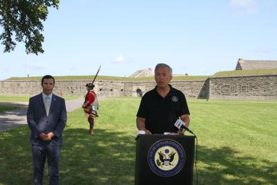 Katko at Fort Ontario as National Park push enters comment period