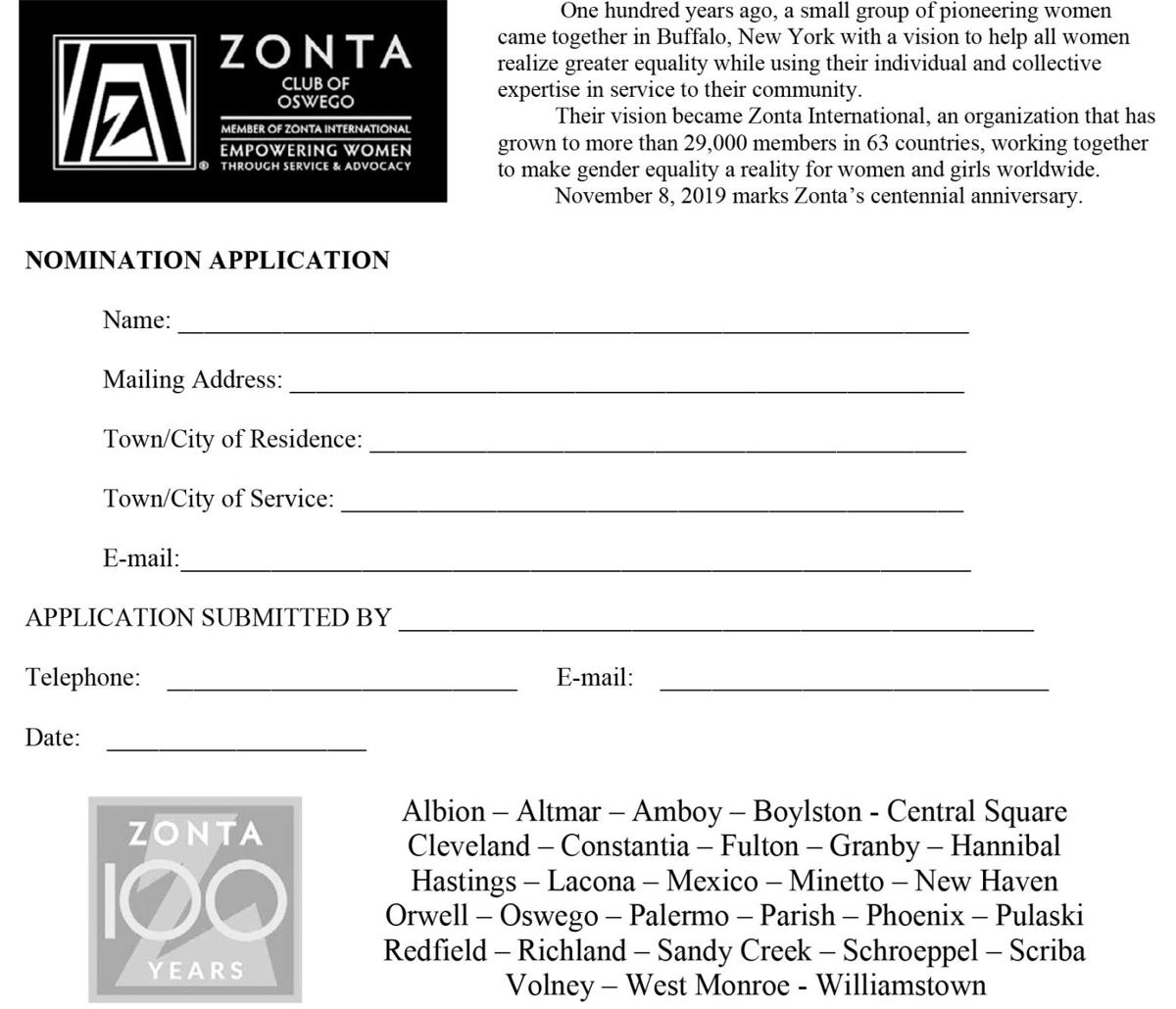 Zonta seeks nominations for 'unsung heroes'