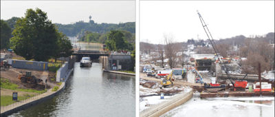 3 years and $28 million later, Lock O-7 back in business