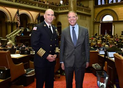 Barclay welcomes Fulton Fire Department Chief to Capitol