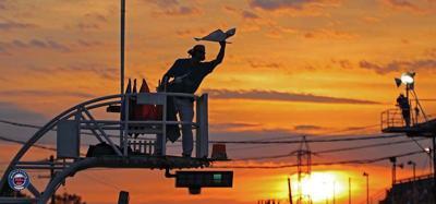 Sunset at Oswego Speedway