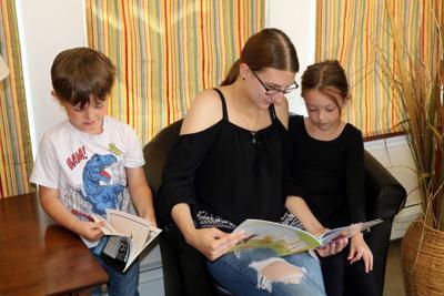 Bookmobile visits OCO Summer Food Service Program