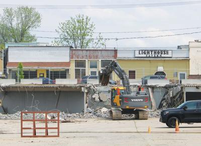 Mid-town Plaza begins final teardown