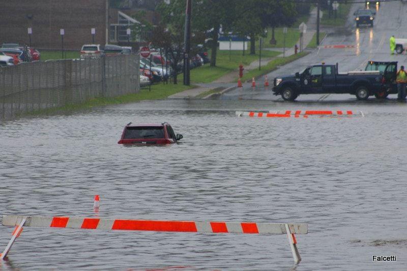 Flooding closes streets, schools