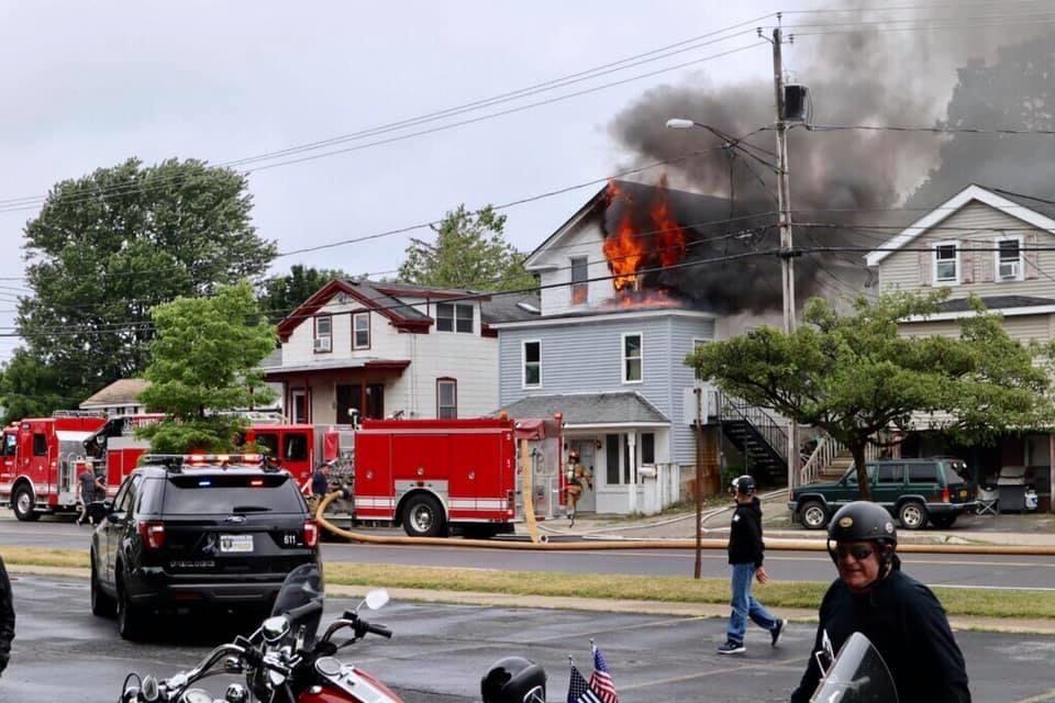 Fire destroys upper floors of West Utica Street house