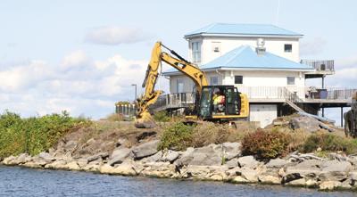 International Pier work begins