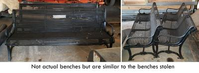 State police seek help locating stolen Mexico benches