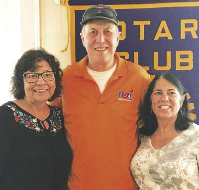 Recently retired local pastor and long-time Rotarian pays a visit