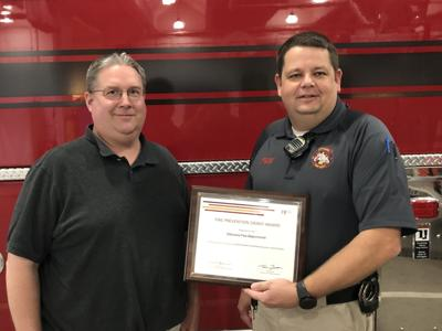 Fire department awarded grant