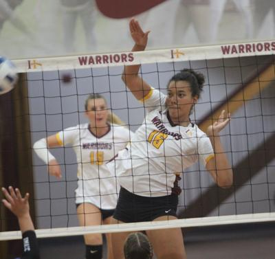 Warrior spikers compete at Highland