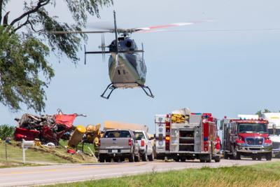 One lifeflighted after cement truck rolls