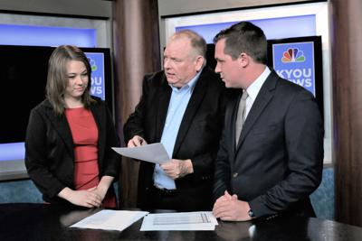 Pat Brink, Leah Kemple and Chase Scheuer at KYOU news