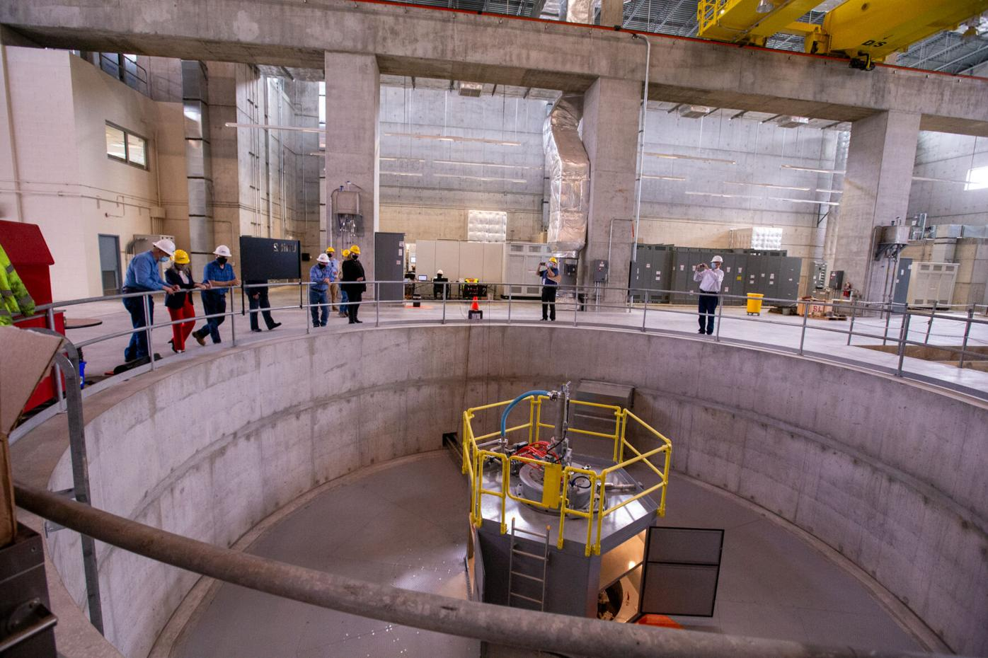 Ernst tours Red Rock Hydroelectric Plant