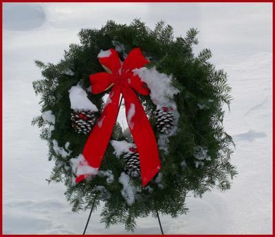 Cemetery wreathes