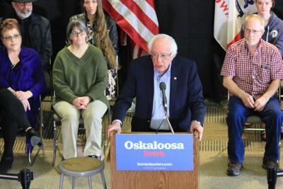 Bernie Sanders campaigns in Oskaloosa