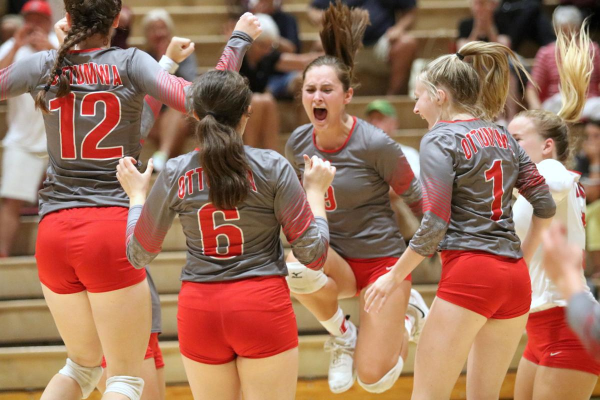 Prep volleyball: Bulldogs dig deep to sweep triangular
