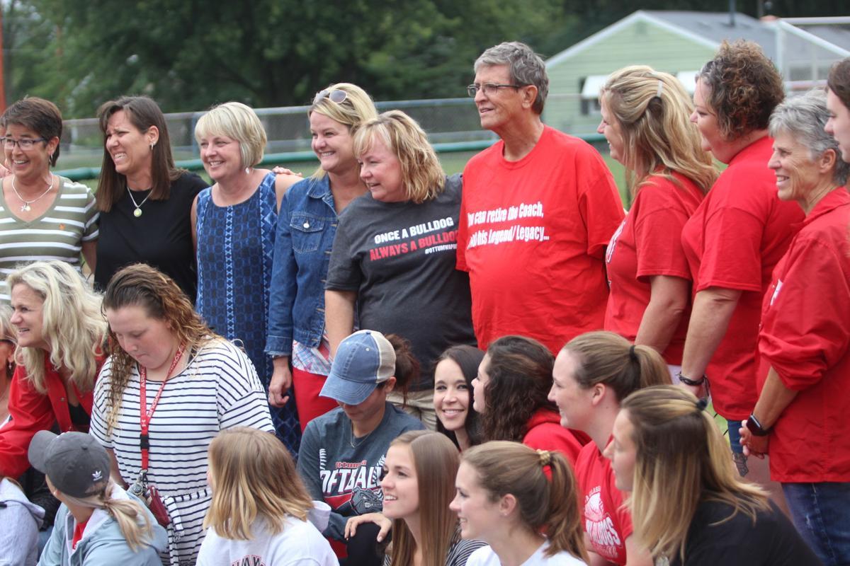 Prep softball: Players gather to honor Huston