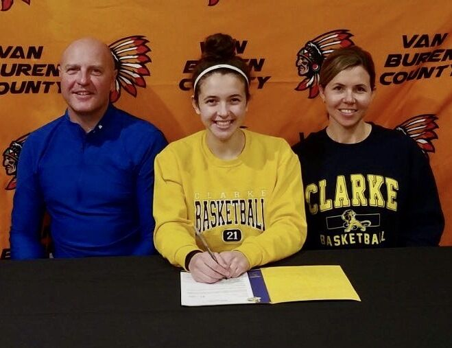 State's top scorer signs letter of intent (2-4 column photo)
