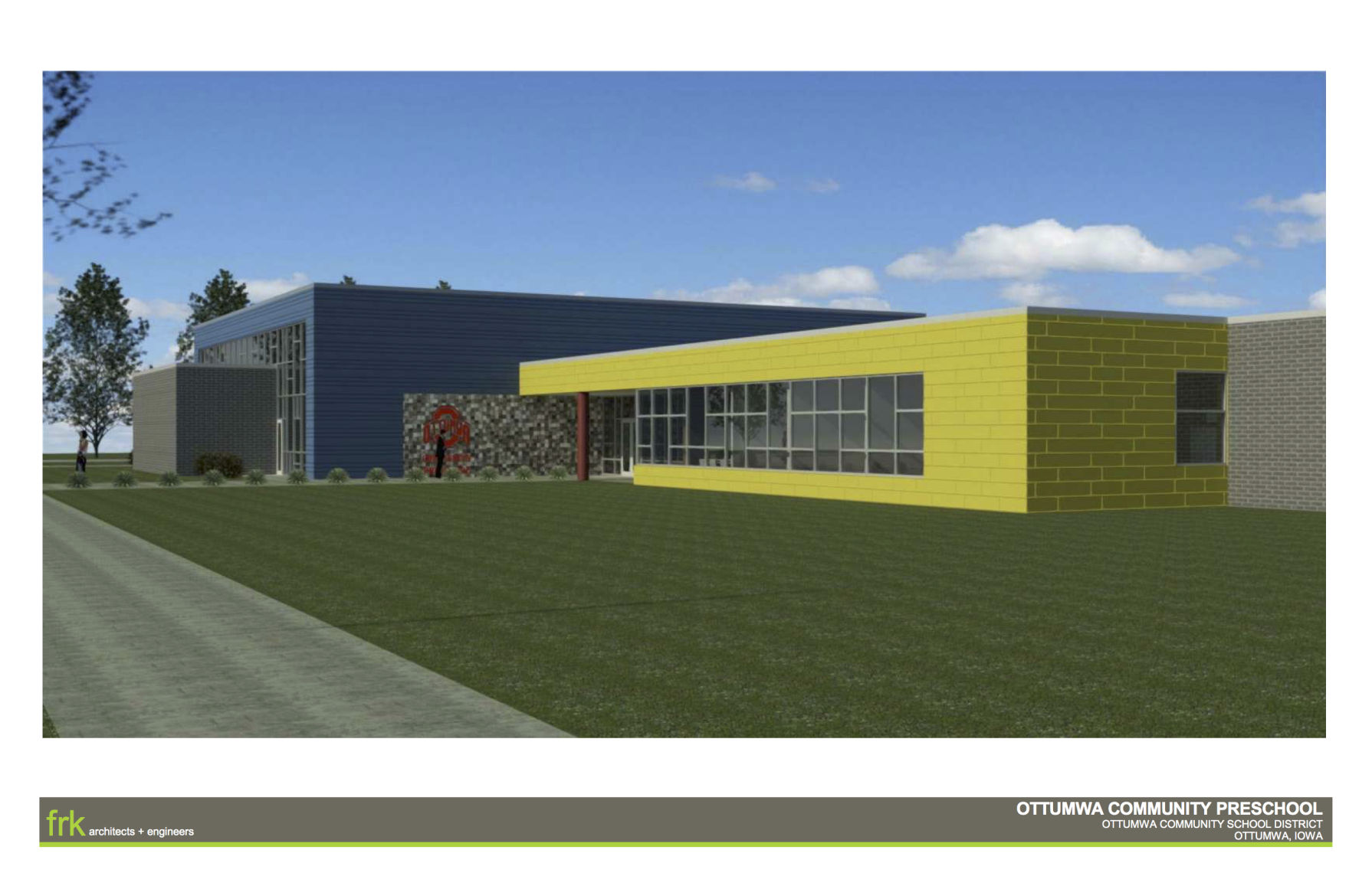 building superintendent resume%0A     the first colored concept art of the new preschool is certainly not  timid  Bright steel panels would liven up the building meant for Ottumwa u    s
