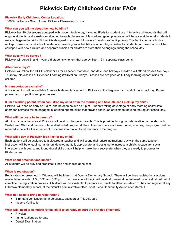 Pickwick FAQ | | ottumwacourier com