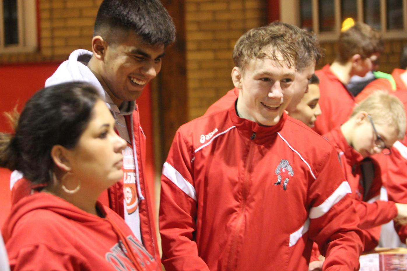 OHS wrestlers return to roots competing in wood gym