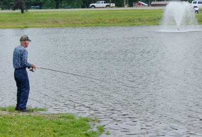 Fishing in the lagoon