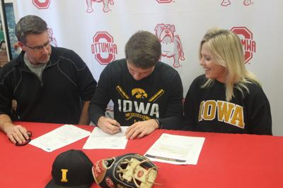 Wood signs with Iowa