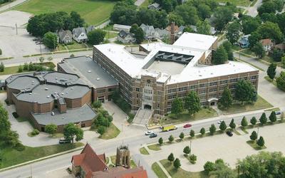 Ottumwa High School, aerial file photo
