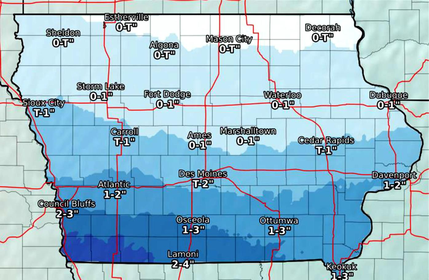Saturday snow forecast 2/6/21 as of 2/5/21 PM