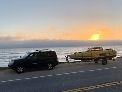 Lun towed from Pedro Point to LA for movie