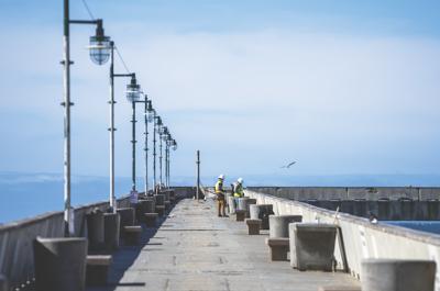 Fixing the pier