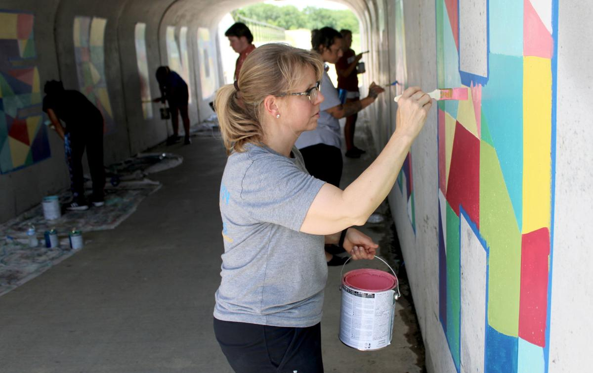 Group gives Greenway tunnel a message of kindness